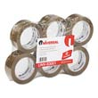 "Heavy-Duty Box Sealing Tape, 2"" x 55 yards, 3"" Core, Tan UVS93001"