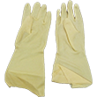 Galaxy Gloves #192 Series Amber Unlined Latex Gloves - 12 Pack GL-192S-CL
