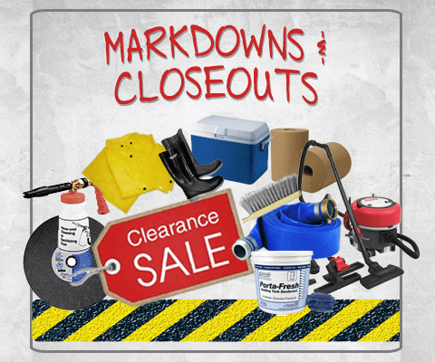 Clearance closeout outlet overstock