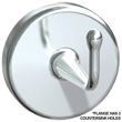 "American Specialties [0751-A] Exposed Surface Mounted Chrome Plated Brass Heavy-Duty Robe Hook - 3 1/4"" Projection"