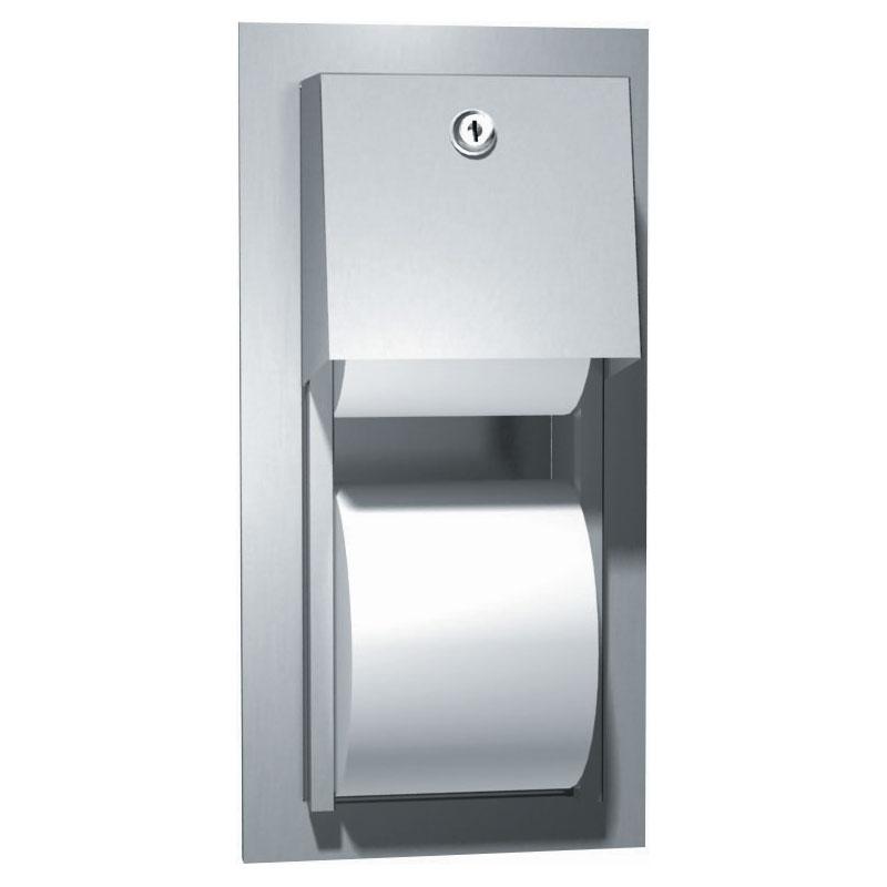 Recessed Dual Roll Toilet Tissue Dispenser 5 25 Quot Roll