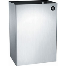 17 Gal. Waste Receptacle - Surface Mounted ASI-0825
