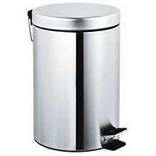 Waste Receptacle w/ Pedal Activated Cover - Bright Finish ASI-7317