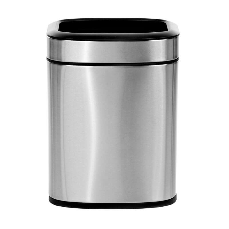 Alpine Industries Open Trash Can, Stainless Steel, 6 L / 1.6 Gal ALP-470-6L