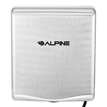 Alpine WILLOW High Speed Commercial Hand Dryer, 220V, Stainless Steel Brushed  ALP-405-20-SSB