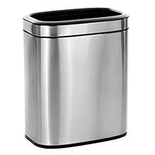 Alpine Industries 20 L / 5.3 Gal Gal Stainless Steel Slim Open Trash Can, Brushed Stainless Steel ALP-470-20L