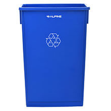 Alpine Industries 23 Gallon Blue Slim Recycle Bin ALP-477-R-BLU