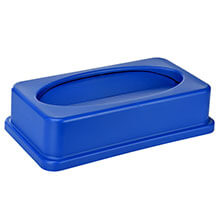 Alpine Industries Blue Slim Trash Can Drop Shot Lid ALP-478-2-BLU