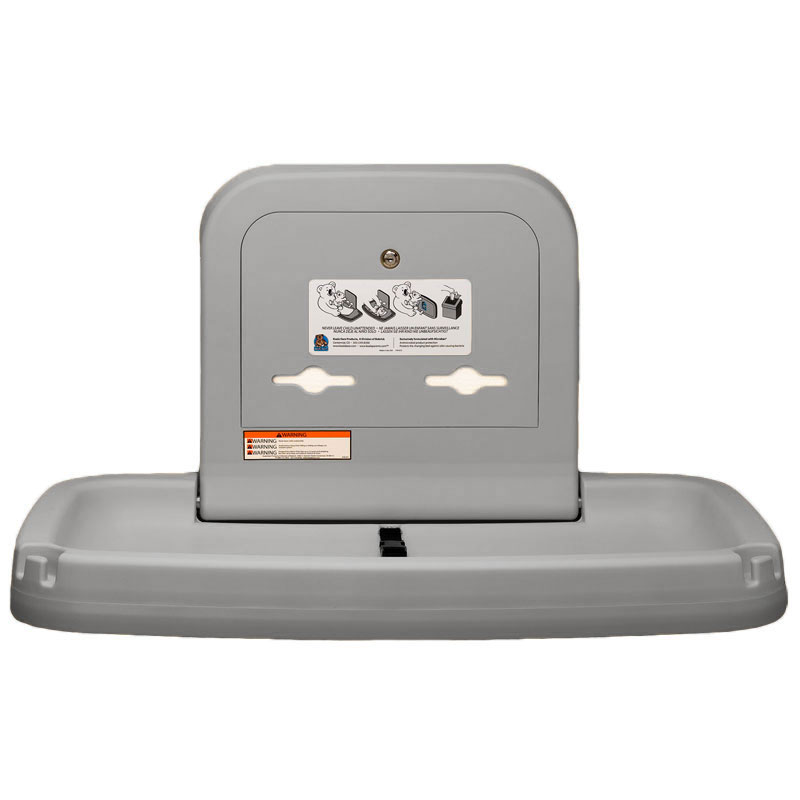 Horizontal Baby Changing Station Gray Unoclean