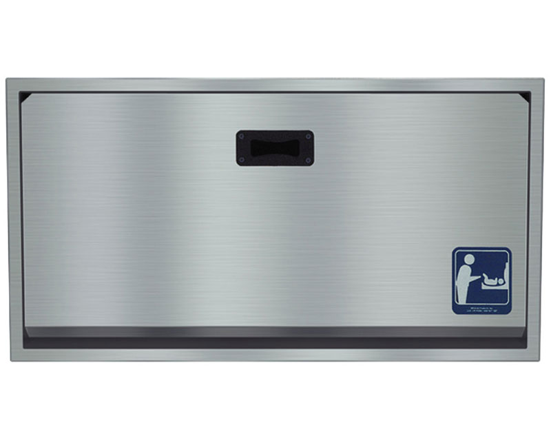Recessed Stainless Steel Baby Changing Station Unoclean