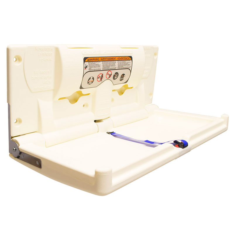 Cream Baby Changing Station Horizontal Unoclean