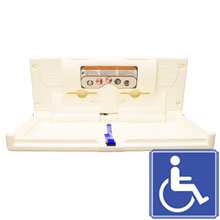 Horizontal Baby Changing Station - Cream