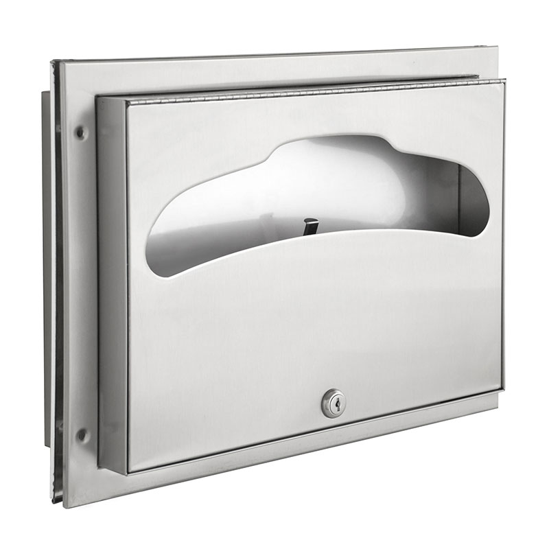 Stainless Steel Toilet Seat Cover Dispenser Partition