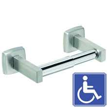 Stainless Steel Single Roll Toilet Tissue Holder - Polished