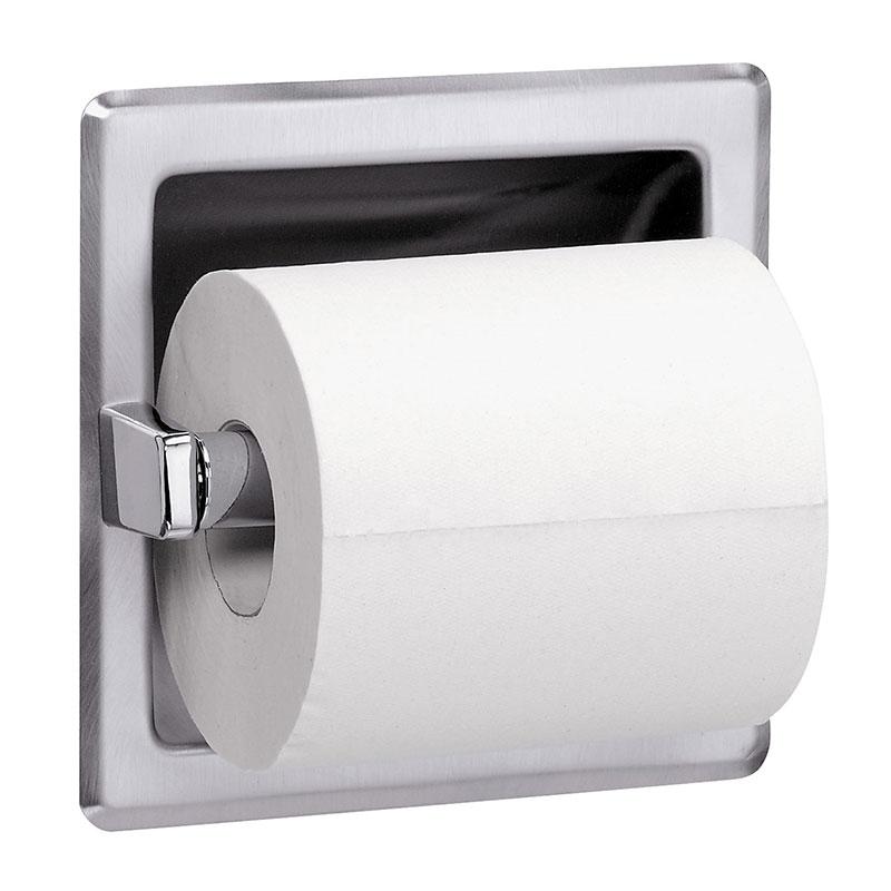 Recessed Single Roll Toilet Paper Dispenser
