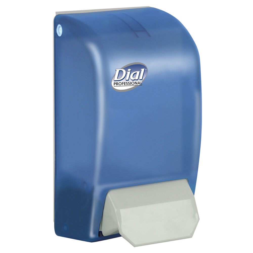 Dial Complate Translucent Blue Hand Soap Dispenser Unoclean