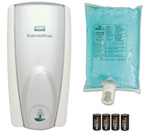Autofoam Touch Free Soap Dispenser Starter Kit White