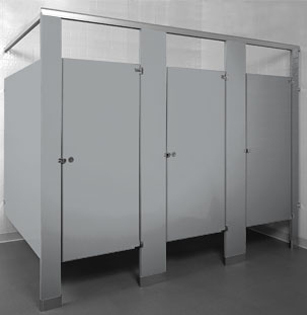 Powder Coated Toilet Partitions - UnoClean