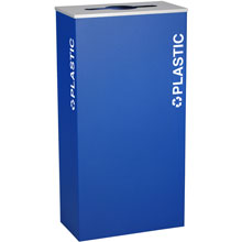 Ex-Cell RC-KD17-PL-RYX Plastic Recycling Receptacle Container - 17 Gal - Blue