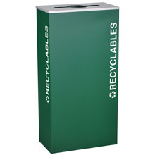 Ex-Cell RC-KD17-R-EGX Recycling Receptacle Container - 17 Gal - Green