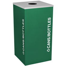 18 Gallon Cans & Bottles Recycling Receptacle Rectangual Container - Green