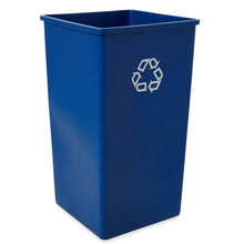 Rubbermaid [3959-73] Square Indoor/Outdoor Recycling Container - 50 Gallon