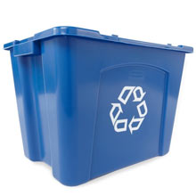 Rubbermaid Stackable Recycling Box - 14 Gallon