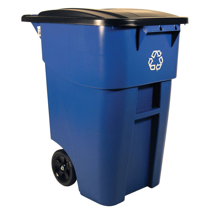 Rubbermaid 9w27 73 Brute 174 Recycling Rollout Container W