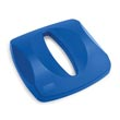 Untouchable Paper Recycling Container Top - Square - Blue