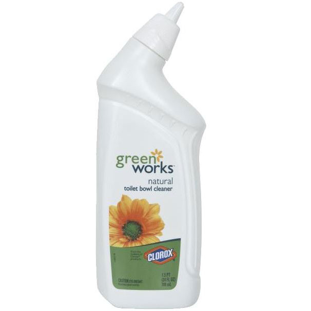 Green Bathroom Cleaners That Work: Clorox Green Works™ Natural Toilet Bowl Cleaner