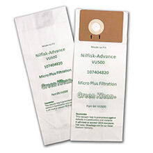 "Advance 12"" & 15"" Upright Vacuum Filter Bags"