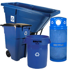 Large Recycling Bins & Containers