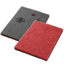 "14"" x 28"" Twister Red Heavy-Duty Pad - 400 Grit"