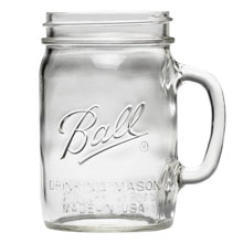 Ball Glass Drinking Mason Jar - (4) 24 oz. Mugs 601153