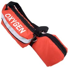 D Cylinder Oxygen Bag - Orange, Padded RF-250OR-P
