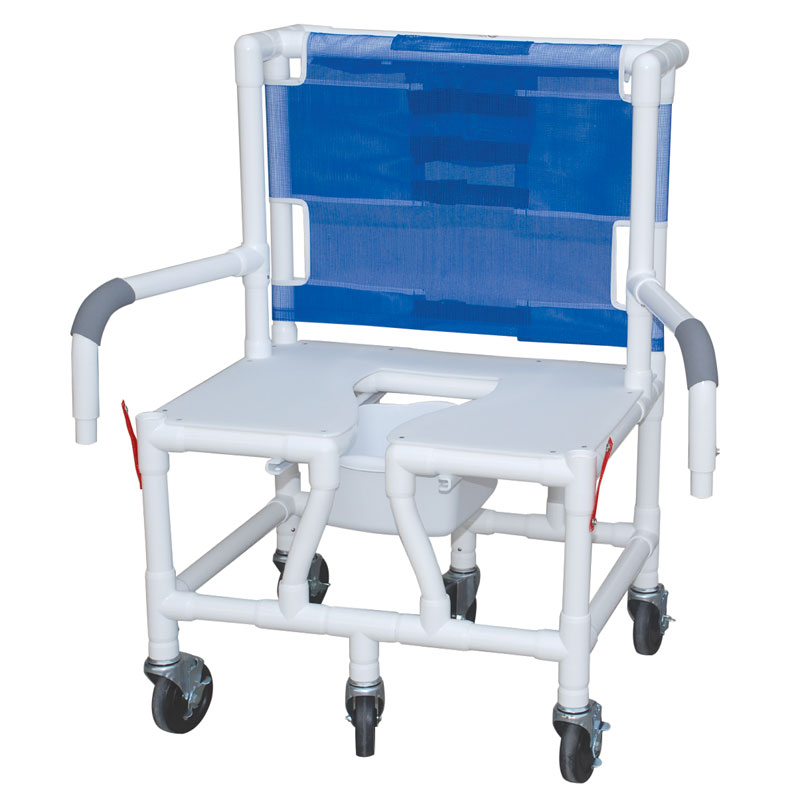 Bariatric Shower Chair Seat w/ Dual Drop Arms - UnoClean