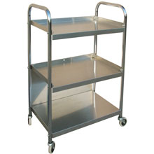 Stainless Steel Mobile Supply Cart