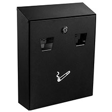 All-In-One Cigarette Disposal Station - Wall Mount ALP-490-01-BLK