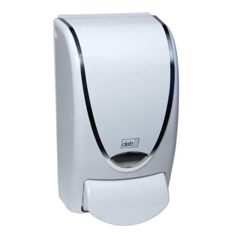 Restyle Curve Soap Dispenser White W Chrome Trime 1 Liter