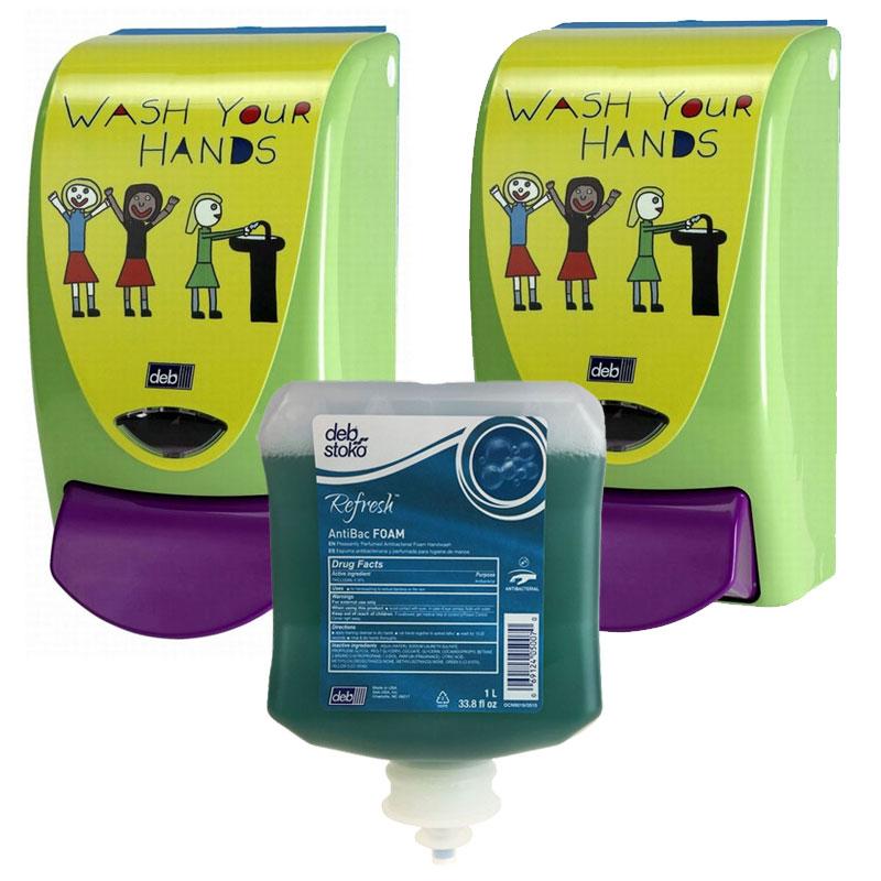 Aerogreen Antibacterial Foam Soap Dispensing Pack Unoclean