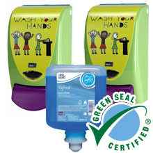 AeroBlue Hand & Body Shampoo Pack - Kid Wash Dispenser