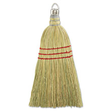 "Whisk Broom w/ Corn Fiber Bristles, 10"" Wood Handle - 12 Pack"