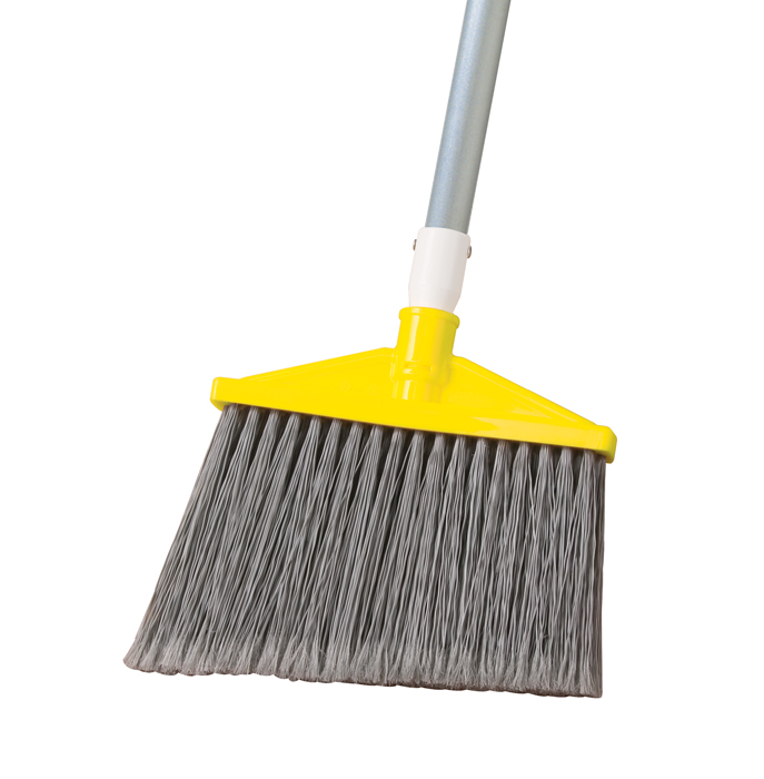 Aluminum Handle Angled Upright Broom Unoclean