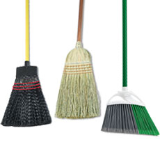Upright Brooms - Natural Fiber & Plastic