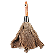 "Texas Feathers Wood Handle Professional Ostrich Feather Duster - 12"" Length TXF12GY"