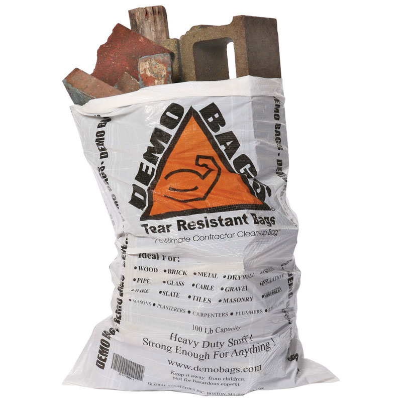 42 Gallon 7 Mil Demo Bag Contractor Cleanup Bags Unoclean
