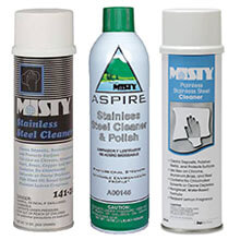 Stainless Steel Cleaner Polishes by Amrep Misty