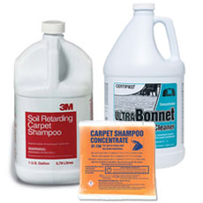 Carpet Rug Shampoo and Bonnet Cleaners