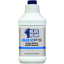 Porous Surface Graffiti Remover Blue Bear 682PS - 1 Quart FRM-PSQTWD