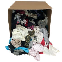 Colored T-Shirt Knit Rags - 50lbs, Rags, Wipes, Wipers, Towels